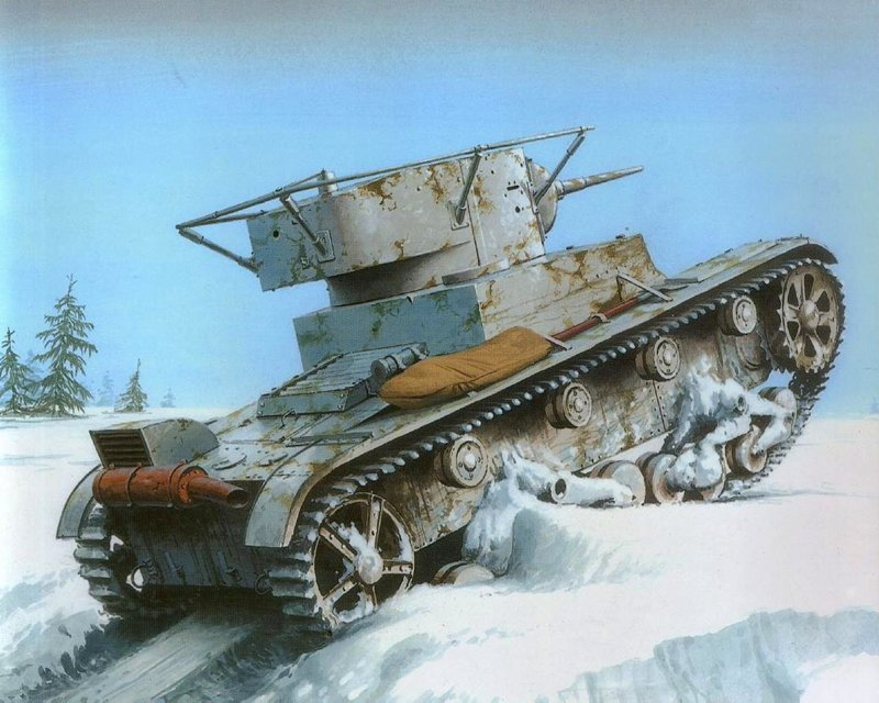 Советская версия. Виккерс, Танк Т-26, танк FT-17