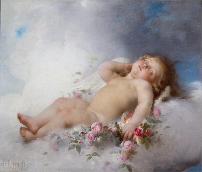 Спящий Путто.(Sleeping putto). Автор: Leon Bazile Perrault.