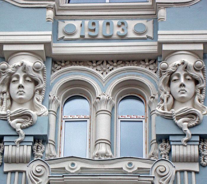 Улица Мясницкая, дом 18. Доходный дом купца М.И. Мишина, 1903 г. Архитектор И.Барютин